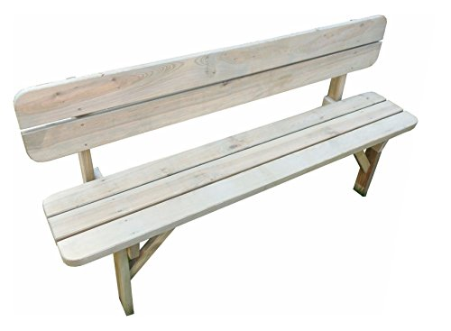 Platan Room Gartenmöbel aus Kiefernholz 120 cm / 150 cm / 180 cm breit Gartenbank Gartentisch Kiefer Holz massiv Imprägniert (Gartenbank, 180 cm)