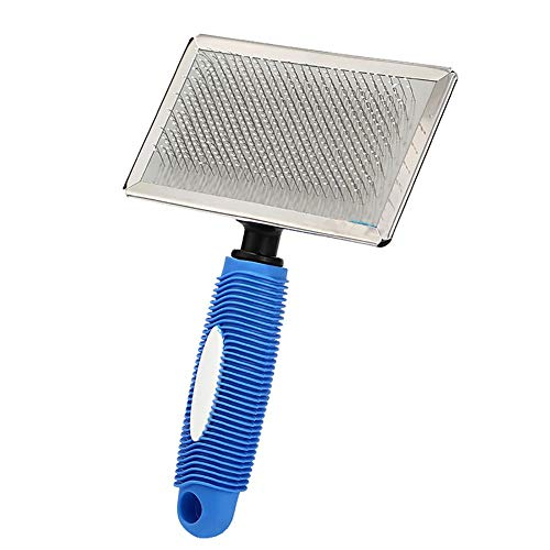 akaddy Dog Grooming Combs Dog Grooming Rakes Dematting Tools Pet Brush(Blue) -