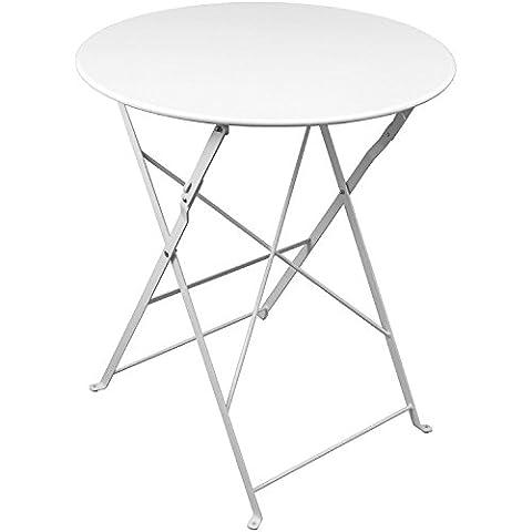 Table pliante 60x 71cm Blanc Table d'appoint Table de balcon terrasse Table Table de jardin Table de camping