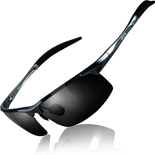 bce8824740 Duco Occhiali da sole polarizzati uomo Occhiali sportivi Occhiali per la  guida telaio in metallo