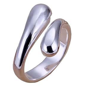 Cool Silver Adjustable Tear Drop Thumb Ring