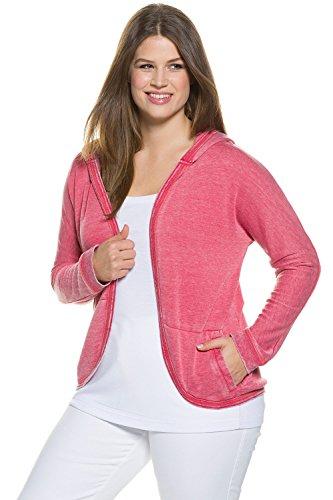 Ulla Popken Femme Grandes tailles Veste à capuche confortable 704809 rouge flamboyant