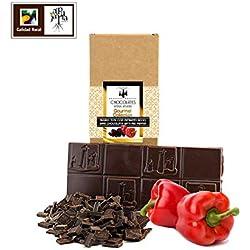 Chocolate negro artesano con pimiento rojo