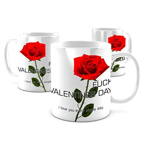 Creativgravur® Kaffeetasse Kaffeebecher - Fucking Valentinstag Valentines Day - Spülmaschinenfest (Kakao Freunden)
