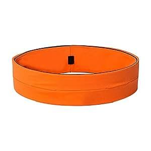 SZPLUS Cinture da corsa / Cintura per corridori - cintura da Fitness e Workout Perfetta per ogni attività sportiva Estremamente confortevole è dotata di 4 tasche estensibili (arancia, S)