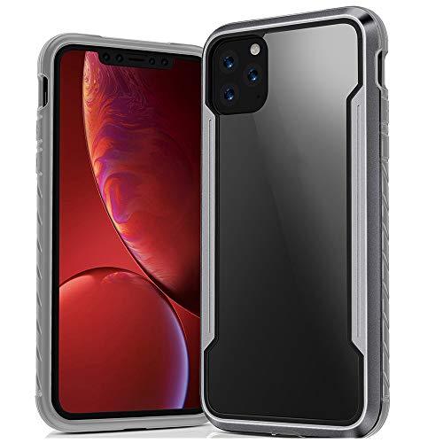 SHRG Adatto per iPhone 11/iPhone 11 PRO/iPhone 11 PRO Max Conchiglia,TPU Silicone Caso, Anti Scivolo E Antiurto - Gelatina Trasparente,Grigio,iphone11