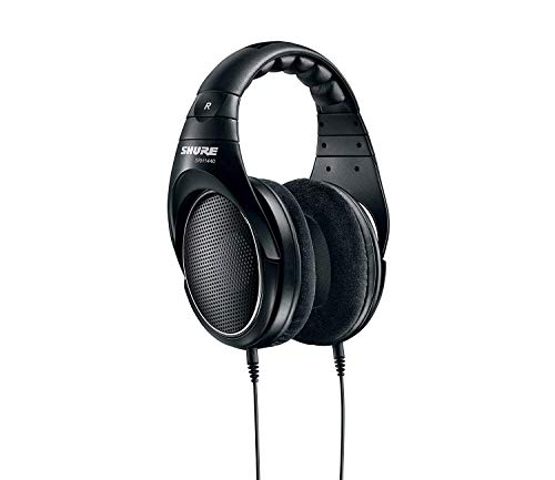 Shure SRH1440, offener Kopfhörer / Over-ear, schwarz, Premium, geräuschunterdrückend, austauschbares Kabel, Velourpolster, natürliche Wiedergabe, erweiterter Übertragungsbereich, linearer Frequenzgang - 4