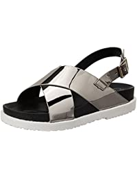 Carlton London Women's Sable Fashion Sandals
