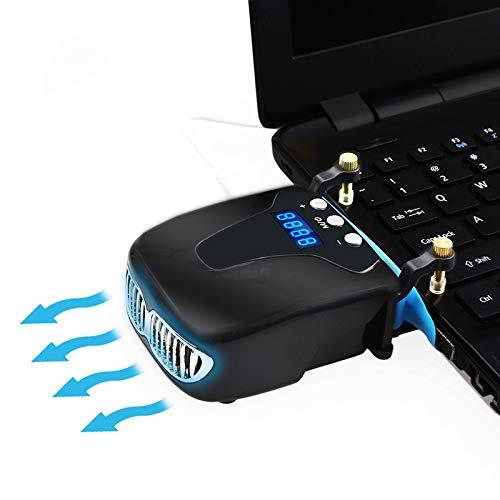 FAY Laptop Chill Mat/Cooling Pad-Hochleistungs-Vakuum-Lüfter, Rapid Cooling, Externes USB Silent Digital Display, intelligente Temperaturregelung -