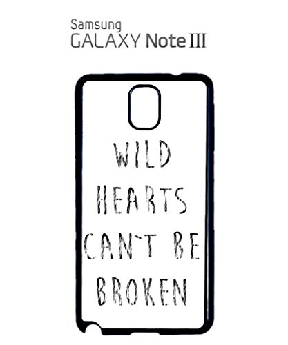 Wild Hearts Can't Be Broken Bad Girl Cell Phone Case Samsung Galaxy S4 Black Blanc