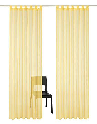 Be&xn eleganza sciarpa volant soft velato velo traslucido 1 pannello finestra tenda per camera da letto soggiorno-giallo 140x260cm(55x102inch)