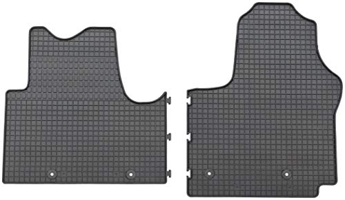 Carmedio Gummimatten Opel Vivaro ab 09/2014 Vivaro Kombi ab 02/2015 3-Sitzer vorne Gummi Fussmatten Original Qualität schwarz 2-teilig