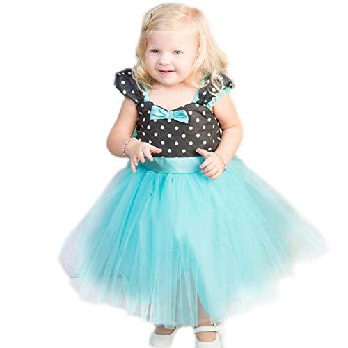 Dastrues Kinder Mädchen Kleid Mesh Sommer Cute Prinzessin Kostüm Party Performance Kleidung (Zu Machen Halloween-leckereien)