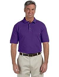 Harriton Men's 6 oz. Ringspun Cotton Piqué Short-Sleeve Polo