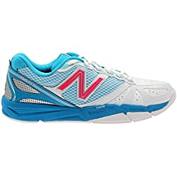 New Balance WN1600v2 Women's Netball Shoes, White, 10 UK