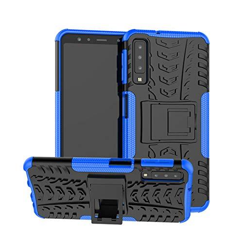 betterfon   Outdoor Handy Tasche Hybrid Case Schutz Hülle Panzer TPU Silikon Hard Cover Bumper für Samsung Galaxy A7 2018 SM-A750 Blau