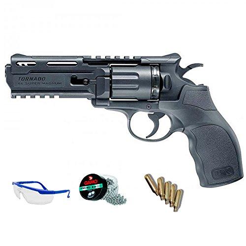PACK pistola de aire comprimido - Revólver Umarex UX tornado balines BBs acero