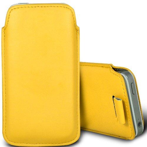 Vert/Green - Nokia Lumia 620 Housse deuxième peau et étui de protection en cuir PU de qualité supérieure à cordon et écouteurs intra-auriculaires de 3,5 mm assortis par Gadget Giant® Yellow