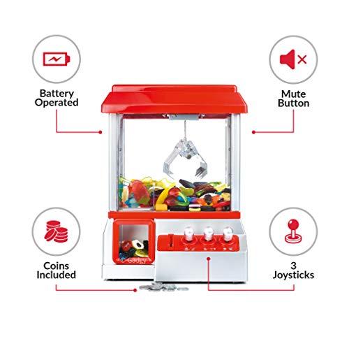 Imagen de gadgy candy grabber con boton silencio, maquina de garra, juego de dulces, caramelo grabber alternativa