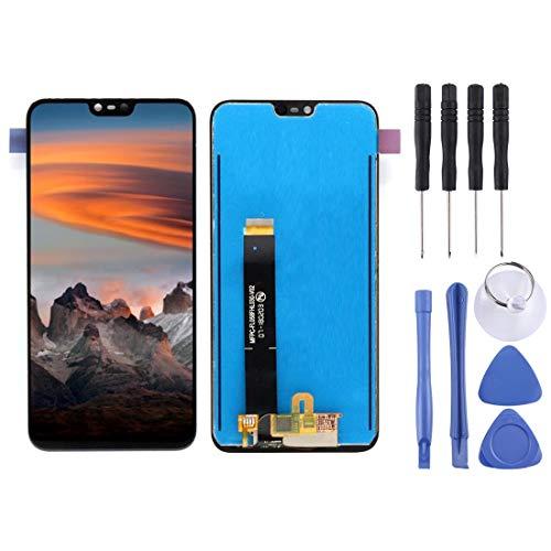 GARMOL Phone Screen LCD-Display + Touchscreen für Nokia X6 (2018) TA-1099 / Nokia 6.1 Asset (Schwarz) (Color : Black) Nokia X6 Touch Screen