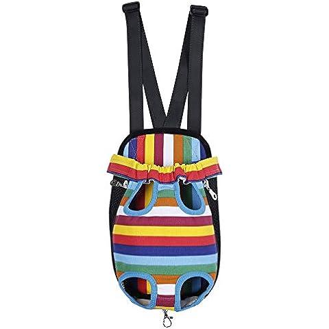 YiJee Portable Pet Travel Carrier Cane Zaino Petto Righe Sacchetti