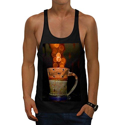 stylish-cup-of-tea-color-bubbles-men-black-s-gym-tank-top-wellcoda