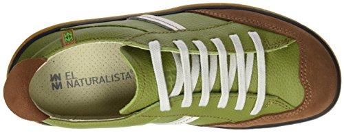 El Naturalista N5273 Soft Grain L.Suede Viajero, Ballerines Derby Mixte Adulte Vert (Green / Wood)