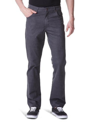 Wrangler - Texas Stretch - Pantalon - Droit - Stretch - Homme Noir (Black)