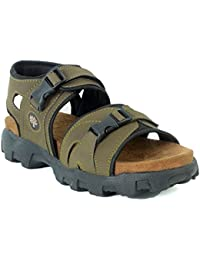 AUSTIN JUSTIN Men's Leather Sandals