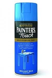 Rust-Oleum Painter's Touch Multi-Purpose Aerosol Spray Paint 400ml Brilliant Blue Gloss (1 Pack)
