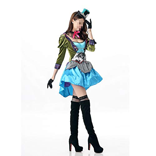 Verrückte Krankenschwester Kostüm - YyiHan Halloween Kostüm, Outfit Für Halloween Fasching Karneval Halloween Cosplay Horror Kostüm,verrückter Hutkursleiter Der Erwachsenen Frau Alice des Halloween-kostüms Spielt Cosplay