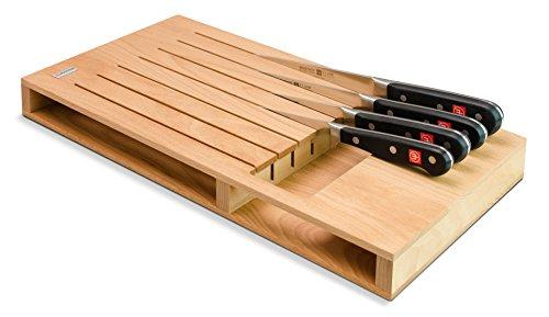 Wüsthof 7273 Schubladeneinsatz für 7 Teile, Holz, buche
