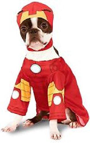 Haustier Hund Katze Iron Man Super Hero Halloween Kleidung Kostüm Kleid Outfit S-XL - (Für Iron Haustiere Kostüme Man)