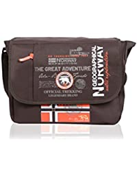 Geographical Norway Bolsa messenger Flag Marrón