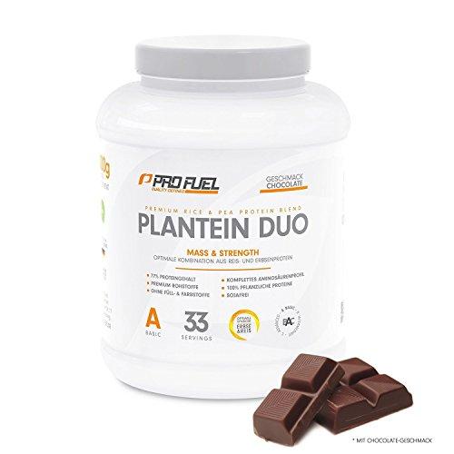 Vegan Protein Mix - Reisprotein und Erbsenprotein - Veganes Proteinpulver - Pflanzliches Eiweiß - 1 kg SCHOKOLADE