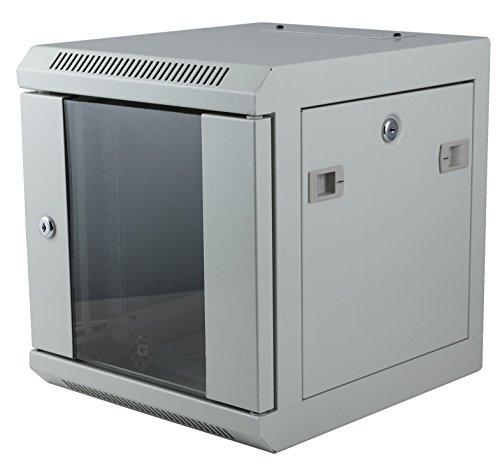 HEITRONIC Netzwerkschrank 10 Zoll verschiedene Höhen Serverschrank Tiefe 350mm abschließbar Höhe 50cm - 9 HE