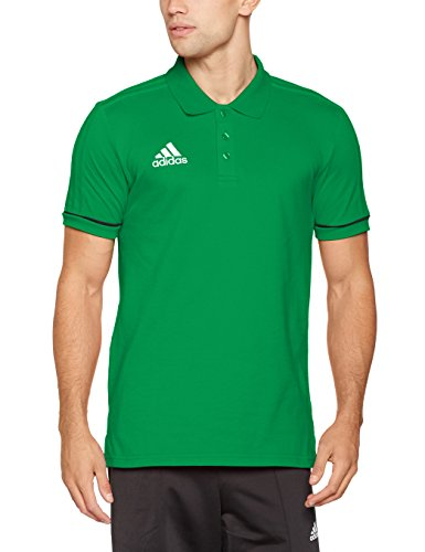 adidas Herren Tiro 17 Cotton Poloshirt, Green/Black/White, M -
