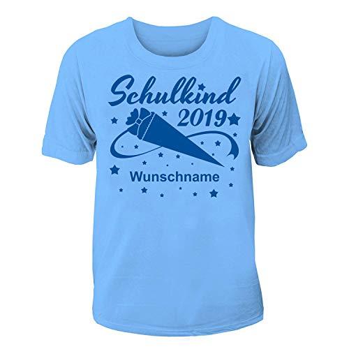 T-Shirt Einschulung/Schulanfang: Schulkind 2019 mit Wunschnamen