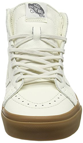 Vans Sk8-Hi Reissue Zip, Sneakers Hautes Mixte Adulte Blanc Cassé (Hiking white/gum)
