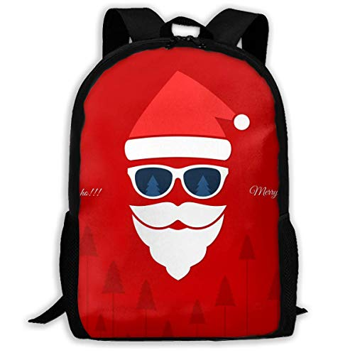 Santa Claus Forest Unisex Adult Unique Rucksack,School Casual Sports Book Bags,Durable Oxford Outdoor College Laptop Computer Shoulder Bags,Lightweight Travel Tagesrucksäcke -