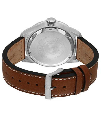 Citizen Herren-Armbanduhr Analog Quarz Leder AW1360-12H -