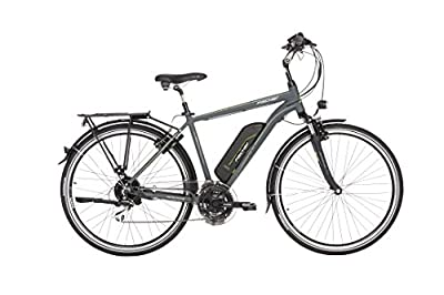 "FISCHER Herren - E-Bike Trekking ETH 1806 (2018), anthrazit matt, 28"", RH 50 cm, Hinterradmotor 45 Nm, 48V Akku"