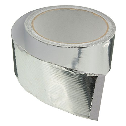 45mmx14m Silver Roll Aluminium Foil Duct Pipe Sealing Tape Adhesive
