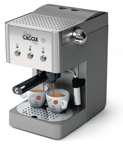 Gaggia Saeco RI8327/08 coffee maker - coffee makers (freestanding, Fully-auto, Espresso machine, Coffee pod, Ground coffee, Coffee, Espresso, Stainless steel)