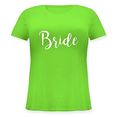 Shirtracer JGA Junggesellinnenabschied - Bride Lettering - Lockeres Damen-Shirt in Großen Größen mit Rundhalsausschnitt Hellgrün