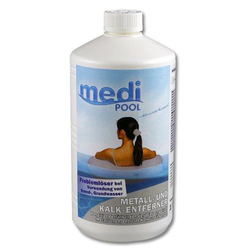 Metall- und Kalk Entferner 1,0 l von mediPOOL - Entfernt zuverlässig Eisen aus dem Wasser vom Pool bei Verwendung von Brunnenwasser