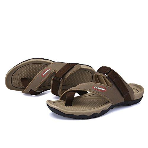 Sommer Herren Hausschuhe/Toe Flip Flops/Tragen Hausschuhe Atmungsaktiv Mode C