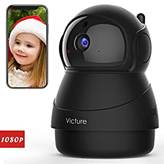 Victure 1080P FHD WiFi IP Camera Indoor Wireless Security Camera With Motion Detection Night Vision Home Surveillance Monitor with 2-Way Audio for Baby/Pet/Elder