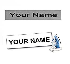 Arrow Textiles Limited Personalized Iron-On Fabric Name Labels Identity Tags for School Uniforms, Jackets & Garments - Set of 15 pieces