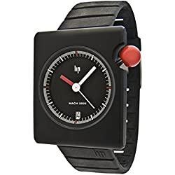 Lip Créateur 1892312 Roger Tallon Gents Watch Quartz Analogue Black Dial Black Rubber Strap